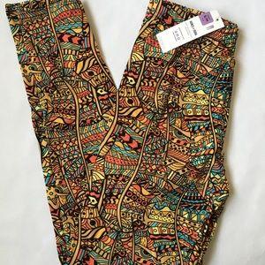 Sm/med Colorful print leggings